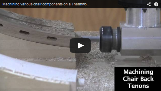 Thermwood Model 45 machining various chair components