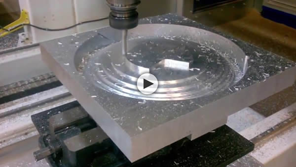 Thermwood Mastercam Solidworks Walkthrough Machining Aluminum Shield on 5 Axis Model 90
